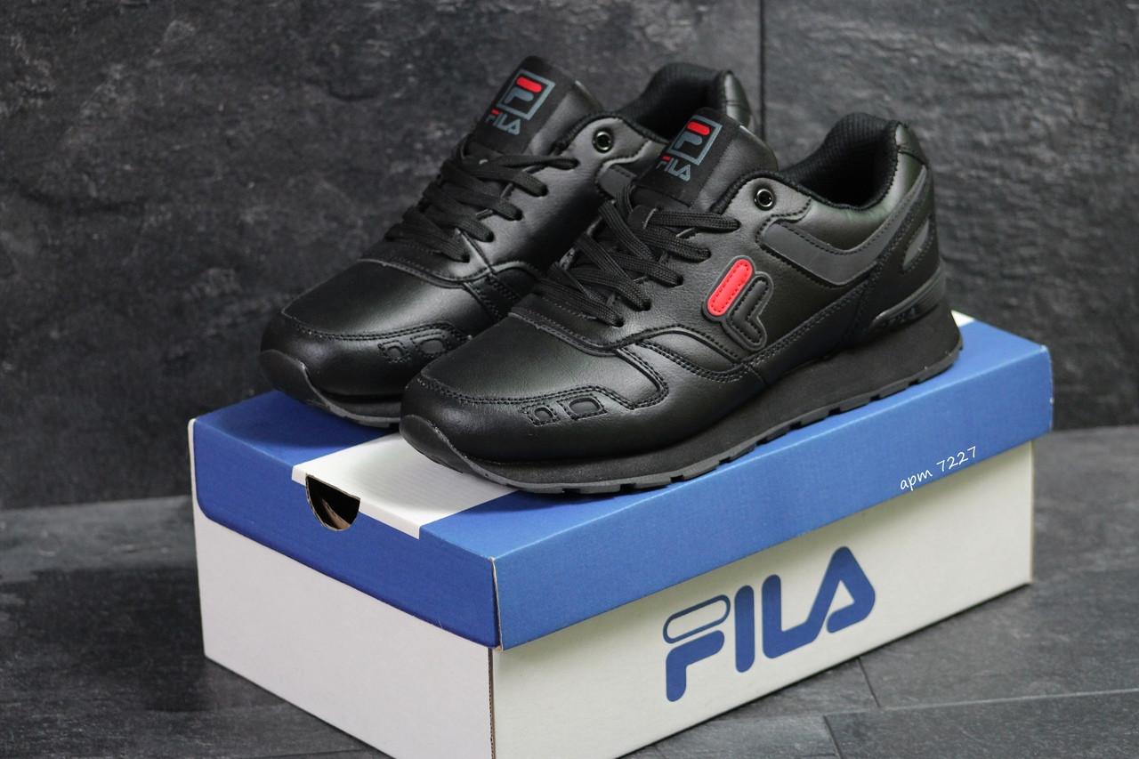 Мужские кроссовки Fila (черные)