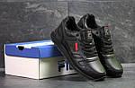 Мужские кроссовки Fila (черные) , фото 4