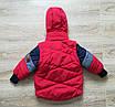 Куртка весенняя для мальчика  от производителя    20-28 красный, фото 3