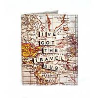 Красивая обложка на ID паспорт Карта мира