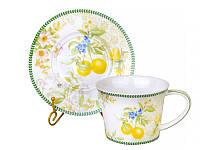 Набор из 2 чашек для чая с блюдцами Лимон 924-370, фото 1