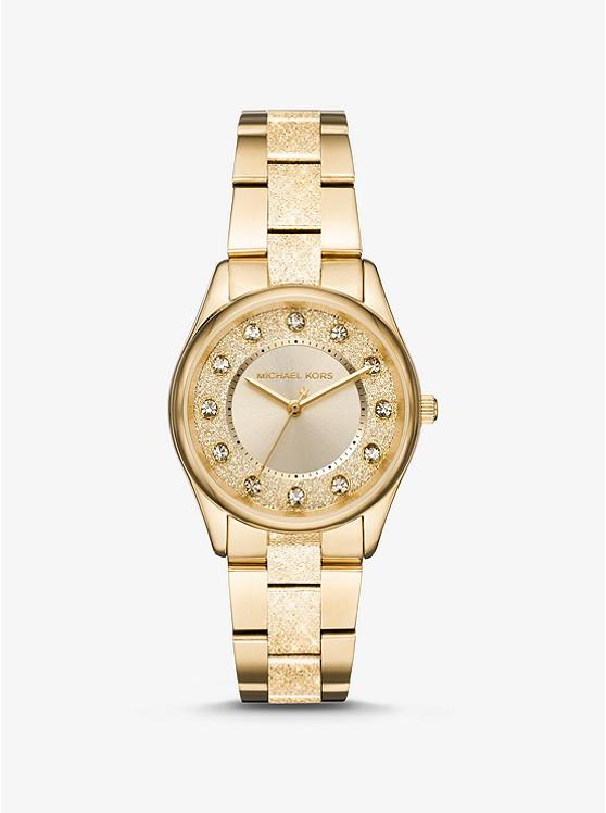 Годинники жіночі Michael Kors Colette Textured Gold-Tone MK6601