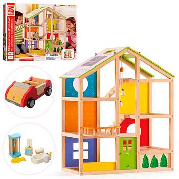 Дерев'яна іграшка Ляльковий будиночок MD 2006 Гарантія якості Швидкість доставки