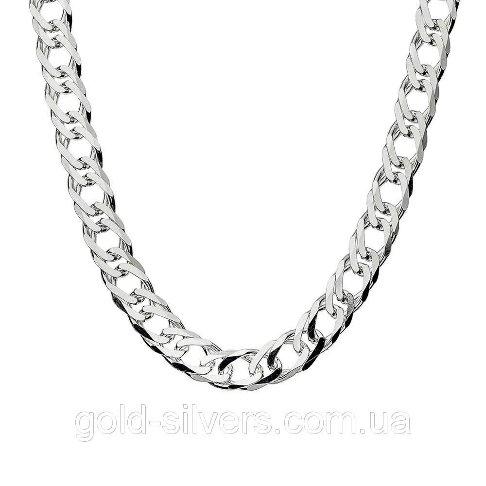 Серебряная цепочка ДВОЙНОЙ РОМБ, РОМБ 6 мм 60 см, фото 1