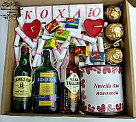 Подарунковий набір Sweet Box №22. Подарунок для коханого, коханої на річницю весілля (відносин), 14 лютого