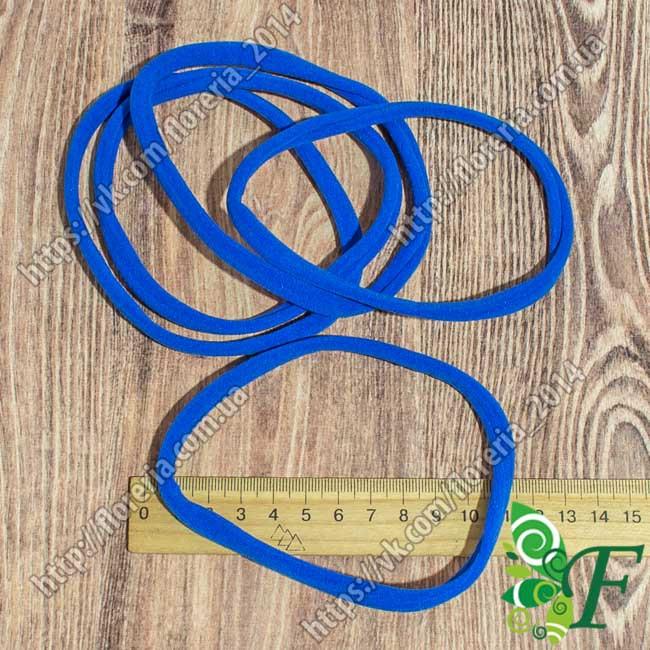 Велюровая повязка для волос синяя за 12 шт