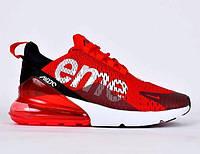 Подростковые кроссовки Nike Air Max 270 Supreme красные ТОП реплика c3212956445ec