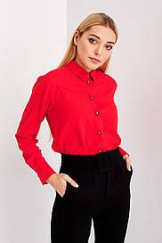 Женская модная блуза кораллового цвета