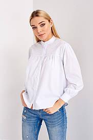 Оригинальная женская белая рубашка