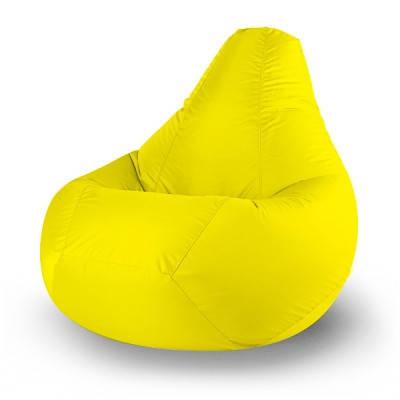 Желтое кресло-мешок груша 120*90 см из микророгожки, фото 2