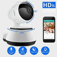 Поворотная Wi-Fi IP-камера Besder BES-MH03 720P. Ночное видение Видео и радионяня. Датчик движения.iCSee