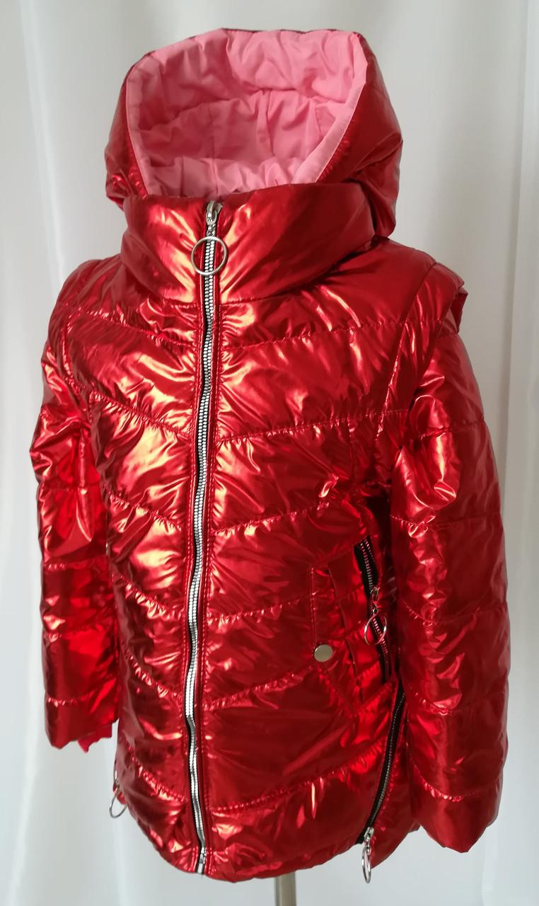Куртка демисезонная на девочку от производителя 32-40 красный