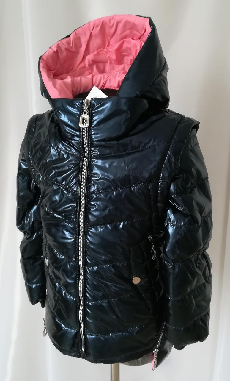 Демисезонная куртка на подростка девочка  32-40 синий