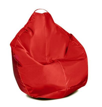 Красное кресло-мешок груша 100*75 см из ткани Оксфорд, фото 2