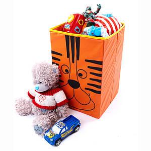 Ящик для зберігання іграшок, 25*25*38 см, Зоопарк Тигр (без кришки)