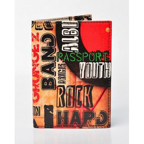 Стильная обложка для паспорта мужская Rock band