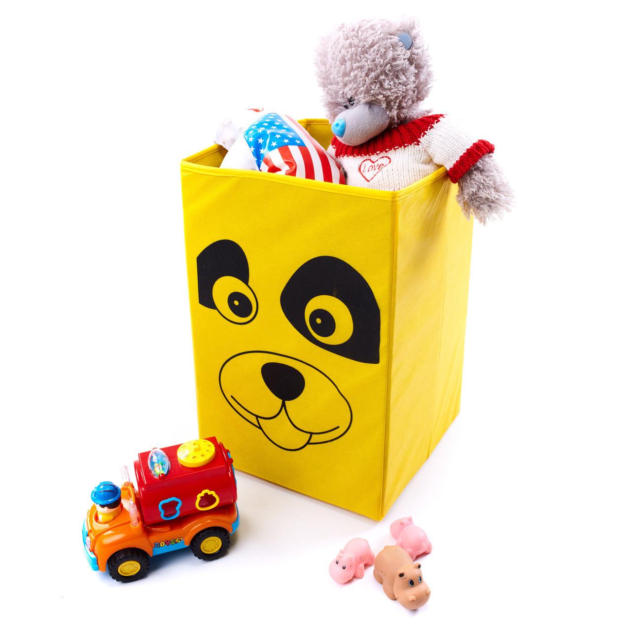 Детский ящик для игрушек без крышки Собака 30*30 см