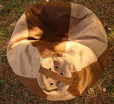 Бежево-коричневое кресло-мешок груша 120*90 см из микророгожки, фото 3