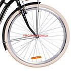 Городской велосипед Dorozhnik Coral PH 28 дюймов черный, фото 3