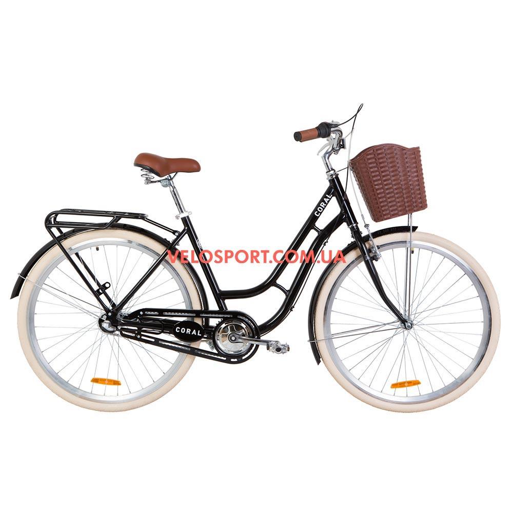 Городской велосипед Dorozhnik Coral PH 28 дюймов черный