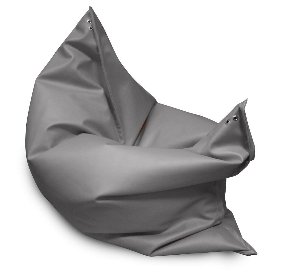 Серое кресло мешок подушка 120*140 см из микро-рогожки, кресло-мат