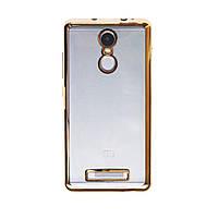 Прозрачный силиконовый чехол для Xiaomi Redmi Note 3 / Redmi Note 3 Pro с глянцевой окантовкой