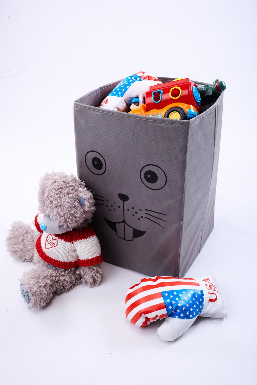 Ящик для зберігання іграшок, 35*35*55 см, Зоопарк Миша (без кришки)