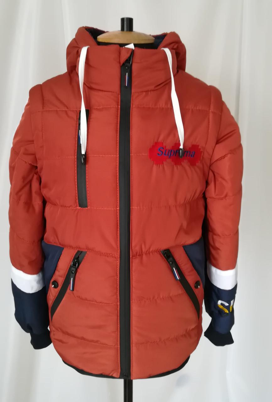 Куртка для мальчика подростка осень  интернет магазин  32-42  терракот
