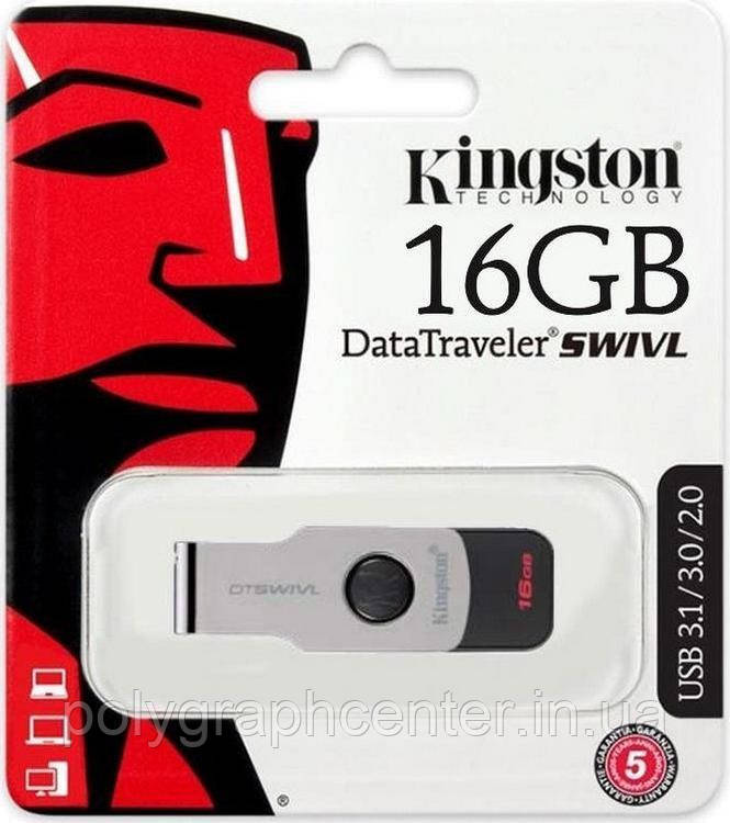 Флешка Kingston DataTraveler SWIVL 16 ГБ USB 3.0