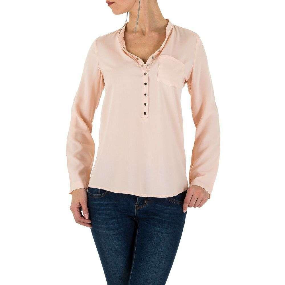 Женская рубашка блузка - Роза - KL-L0032-04-Роза