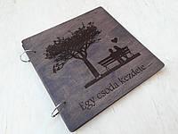 Альбом для фотографій з дерев'яними обкладинками, фото 1