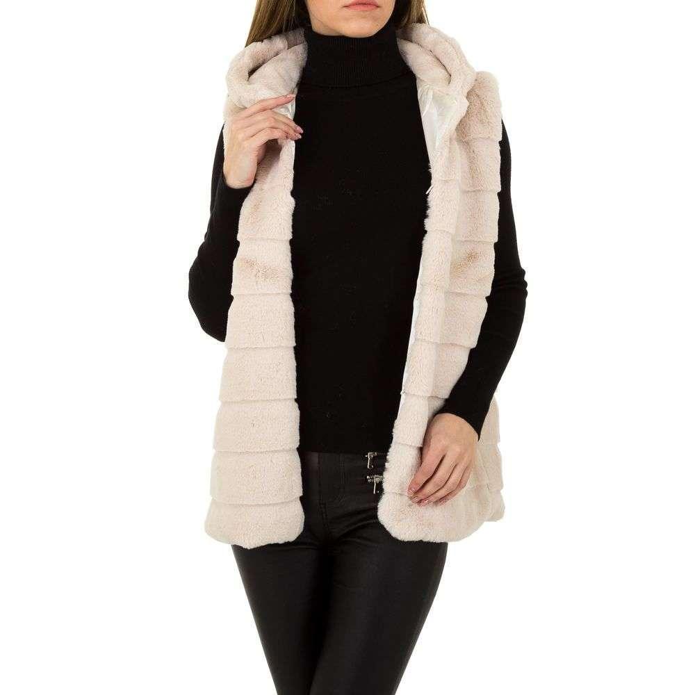 Женский жилет меховый от Holala (Европа), размер One Size, Бежевый