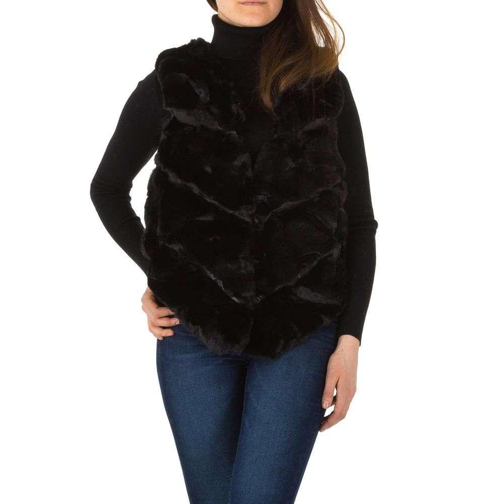Женский меховый жилет от Holala (Европа), размер One Size, Черный