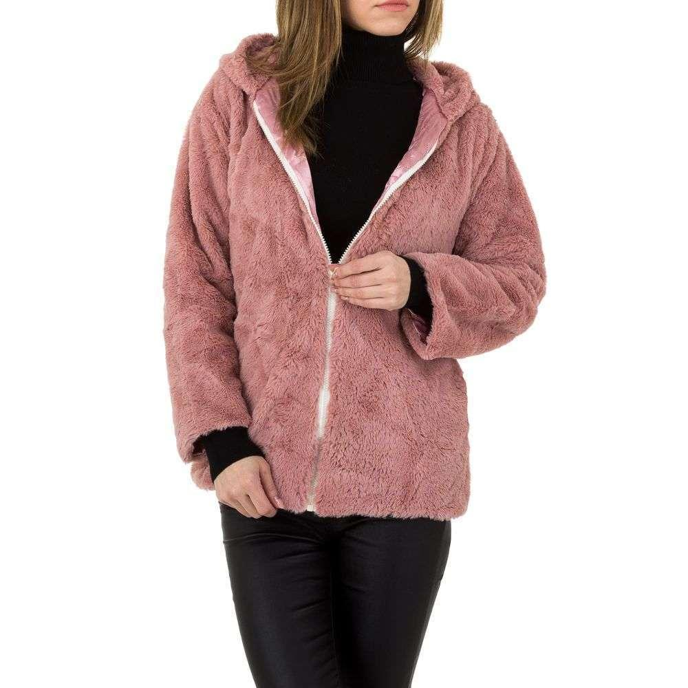 Женский плюшевый пиджак от проиводителя Holala (Европа), размер One Size, Пудровый