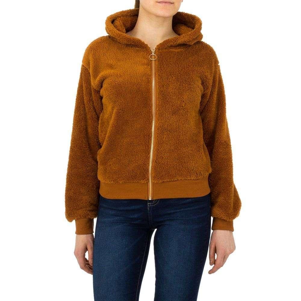 Женская спортивная куртка от Voyelles - camel - KL-TS-863-camel