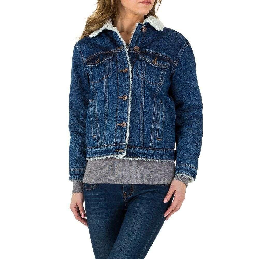 Джинсовая женская куртка демисезонная от производителя Laulia (Европа), Синий