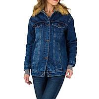 ccb2a483225 Женская джинсовая куртка зимняя с мехом от Laulia (Европа)