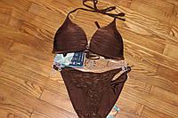 Женский коричневый Купальник раздельный бикини с жаткой