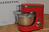 Кухонный комбайн тестомес Herenthal HT-PKM1400.5 1400 Вт Красный, фото 2