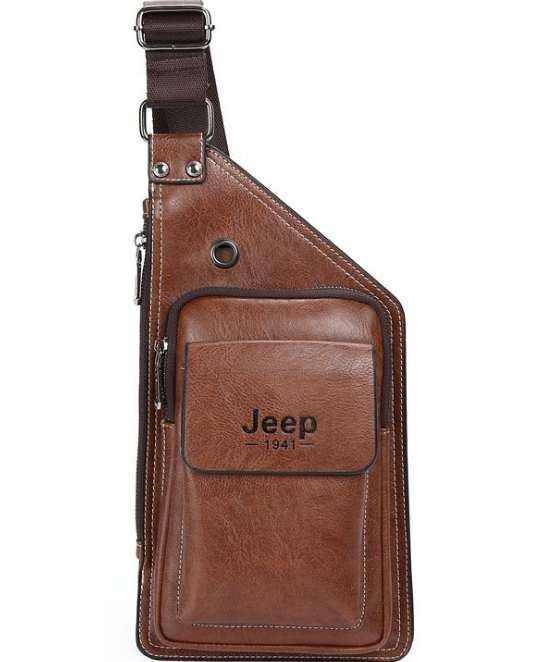 Сумка Jeep Buluo на одно плечо кобура слинг рюкзак   Коричневая