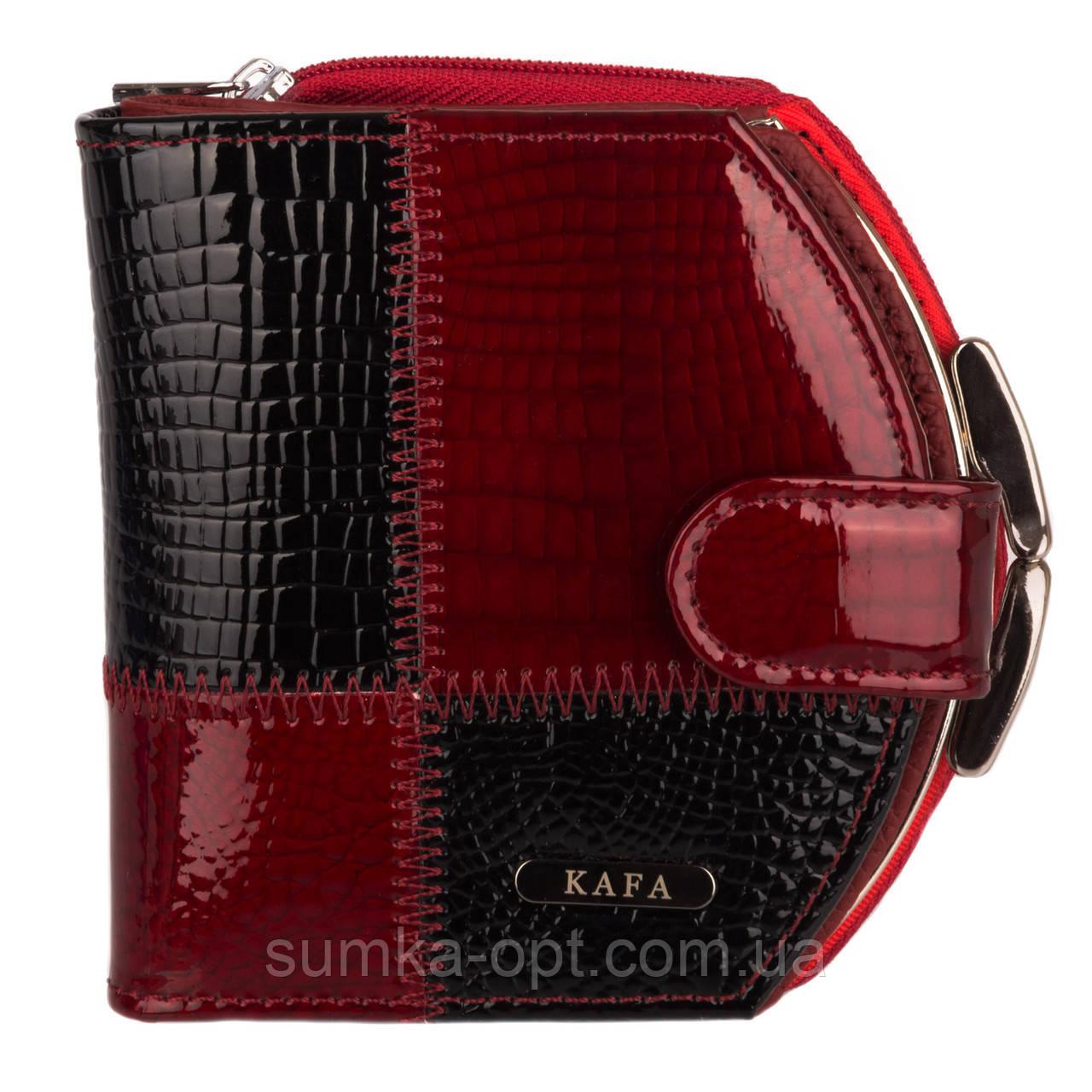 06127929dfe4 Женские кошельки из натуральной кожи Kafa с RFID защитой (красный)13 ...
