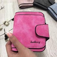 Клатч Baellerry Forever Mini балери Женский кошелек  Ярко розовый. Замша PU, фото 1