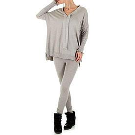 Женский костюм - серый - KL-179-серый