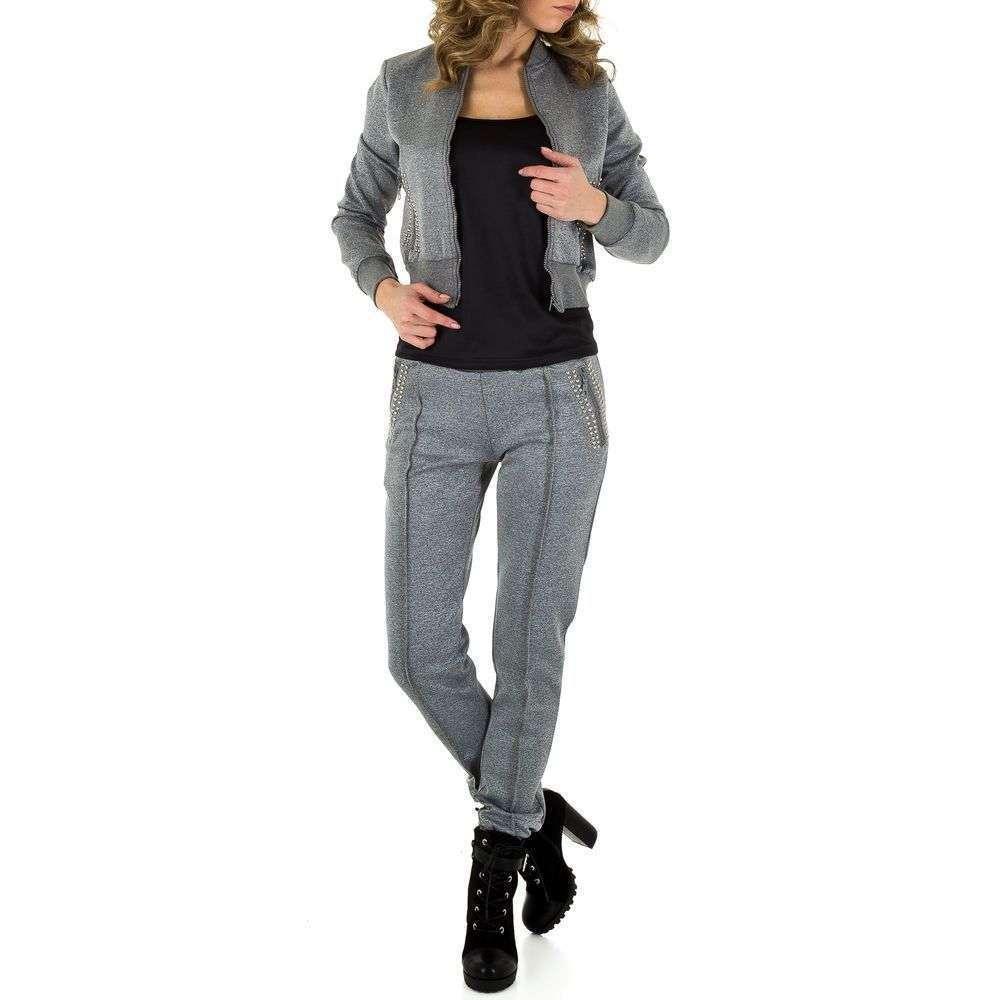Женский повседневный костюм со стразами Emmash Paris (Франция), Серый
