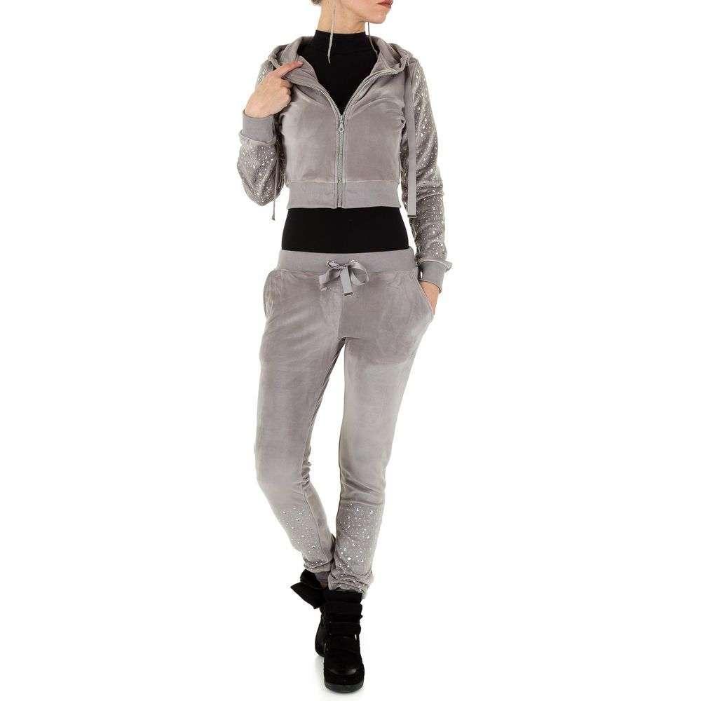 Женский костюм - серый - KL-WJ-8190-серый