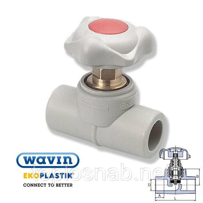Проходной вентиль 40 Wavin