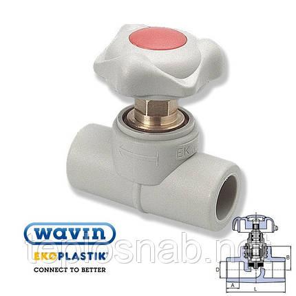 Проходной вентиль 40 Wavin, фото 2