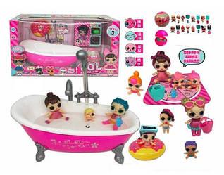 Набор с куклами LOL ТМ 923 , ванночка, кукла с аксессуарами, шар-сюрприз, в коробке