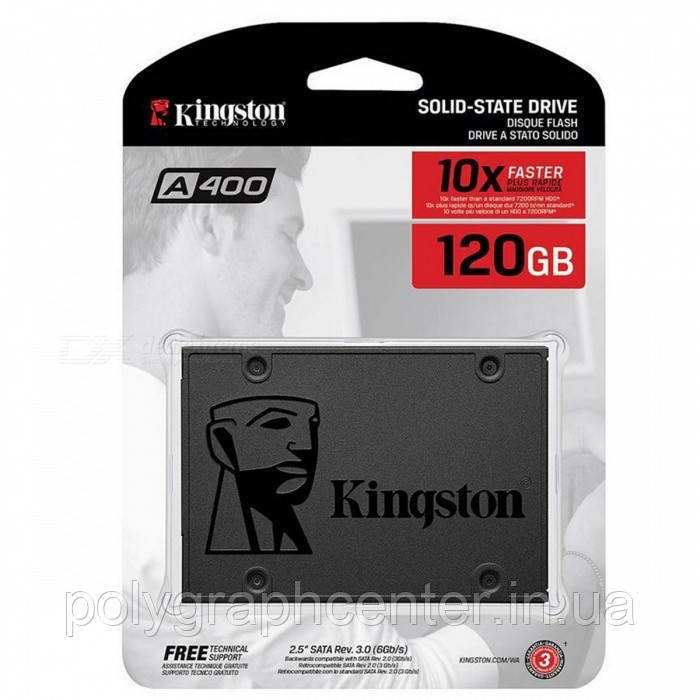 SSD накопитель 120Gb, Kingston SSDNow A400, SATA3, 2.5""