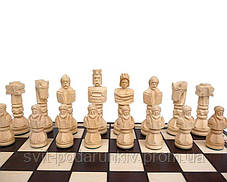 Шахматы Гладиатор C-117 большие с резными фигурами в подарок, фото 3